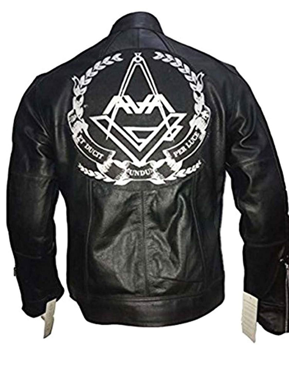 Tom DeLonge Angels and Airwaves Love AVA Vintage Men's Leather Jacket   Mens Black Jacket (XXXL)