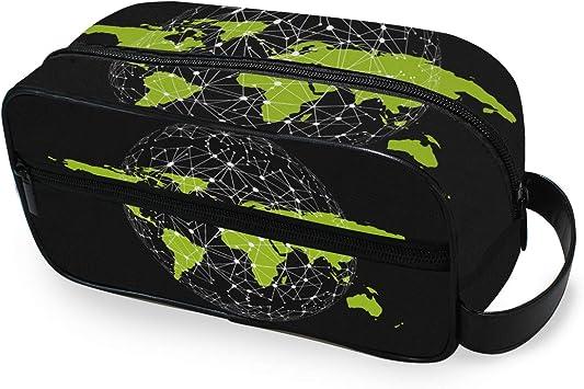 LORONA - Neceser de Viaje para Hombre y Mujer, diseño de Mapa en Bruto, Color Verde: Amazon.es: Equipaje
