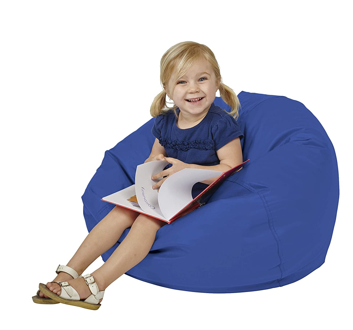 FDP SoftScape Classic 26 Junior Bean Bag Chair, Furniture for Kids, Perfect for Reading, Playing Video Games or Relaxing, Alternative Seating for Classrooms, Daycares, Libraries or Home – Blue