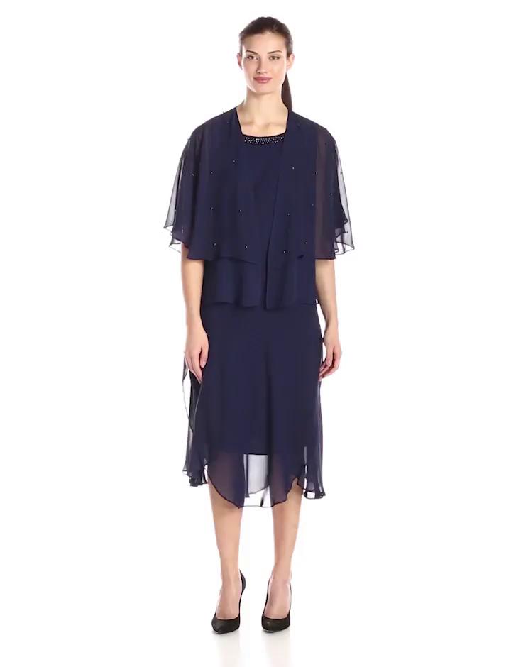 Amazon.com: S.L. Fashions Women&39s Jewel Trimmed Jacket and Dress