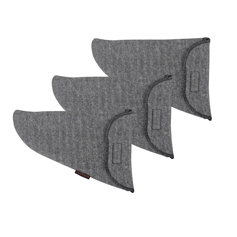 Tourbon Silicone Treated Pistol Sock Gun Sleeve Handgun Storage (Grey, Pack of 3 Pieces) Tourbon Safari Store