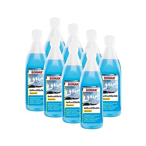 SONAX 8 x 03321000 anticongelante (& Transparente Protección contra Heladas Concentrado Citrus Aroma ...