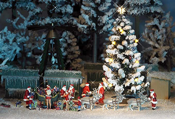 Christmas Model Railway.Busch 5411 Lighted Christmas Tree Ho Scenery Scale Model Scenery