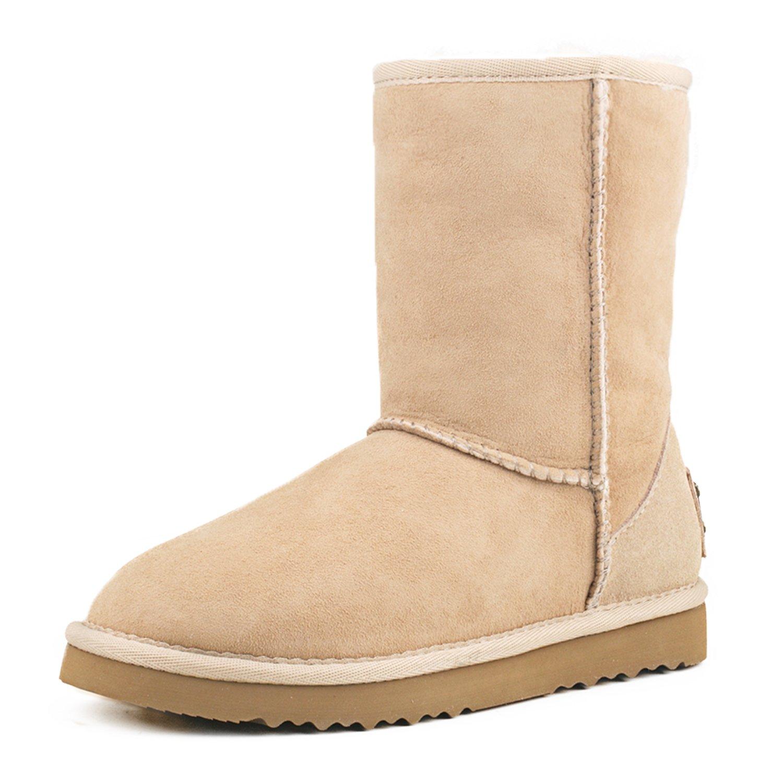 Shenduo Nieve De Delicado Botas Invierno Piel Clásicos Zapatos PdqwgR