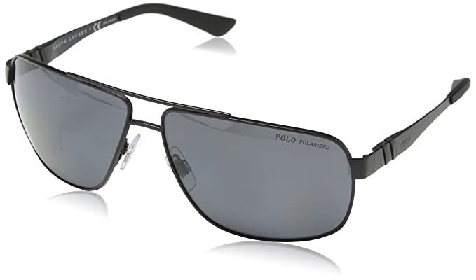 72d0c9855894 Polo Ralph Lauren Men s 0ph3088 Polarized Rectangular Sunglasses matte  black 65.0 mm