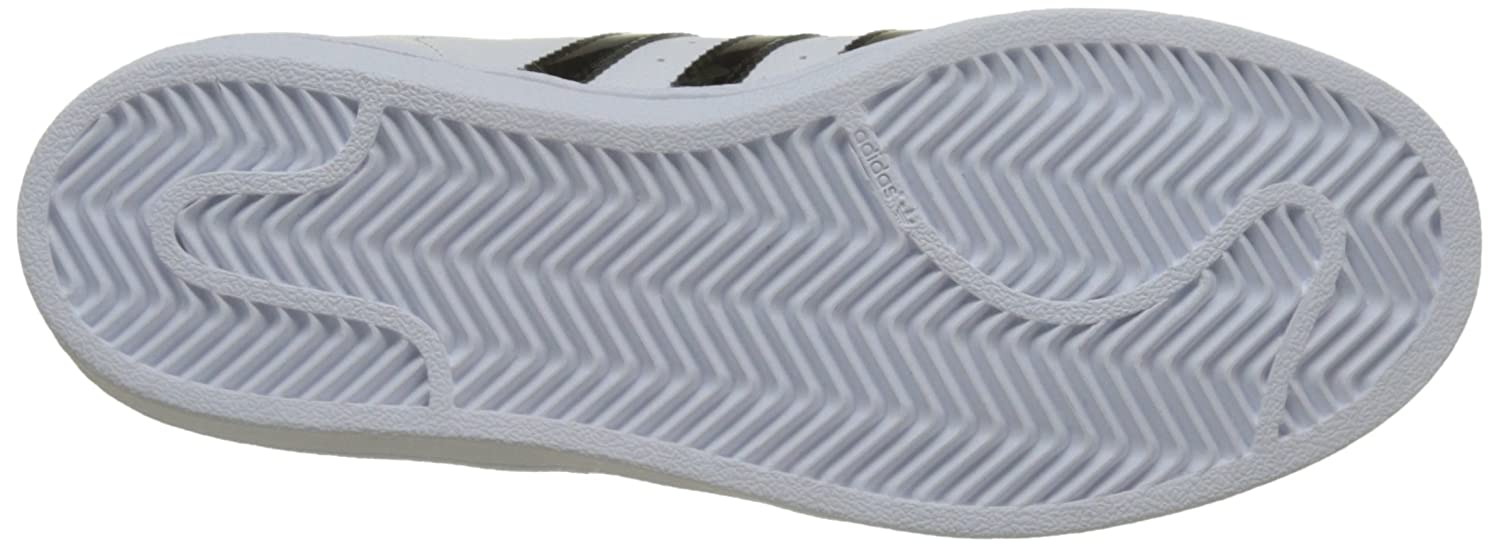 Amazon.com   adidas Originals Superstar J White/Black Holographic Leather Youth Trainers   Sneakers