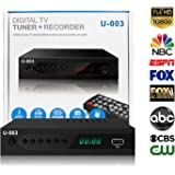 ATSC Digital TV Converter Box - UBISHENG U-003 Set-Top Box for Analog HDTV Live 1080P Converter with TV Tuner, Time Shift, EPG, PVR Recording, Playback, Multimedia Player, Timer Setting, LED, Freeview