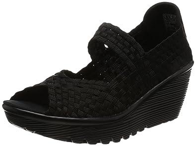 937eba87609f Skechers Womens Parallel Midsummers Weave Peep-Toe Wedge