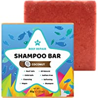 Reef Safe Shampoo Bar - Coconut. All Natural Organic & Baby Safe, Solid Shampoo Bar for Hair. Cleansing, Softening…