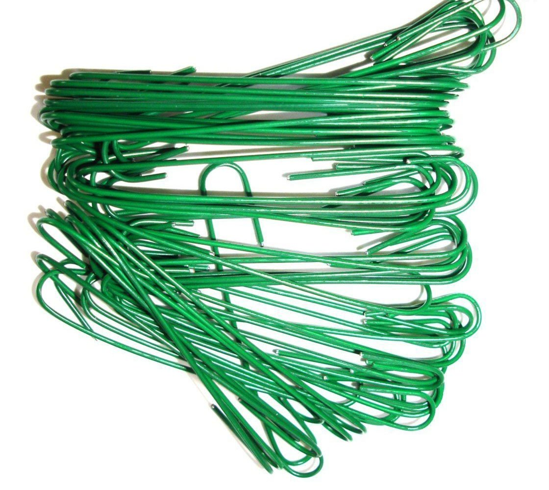 Ornament Hooks, Tree Baubles Ball Metal Hooks, Decoration Ornament Hangers, Green, 200 Piece