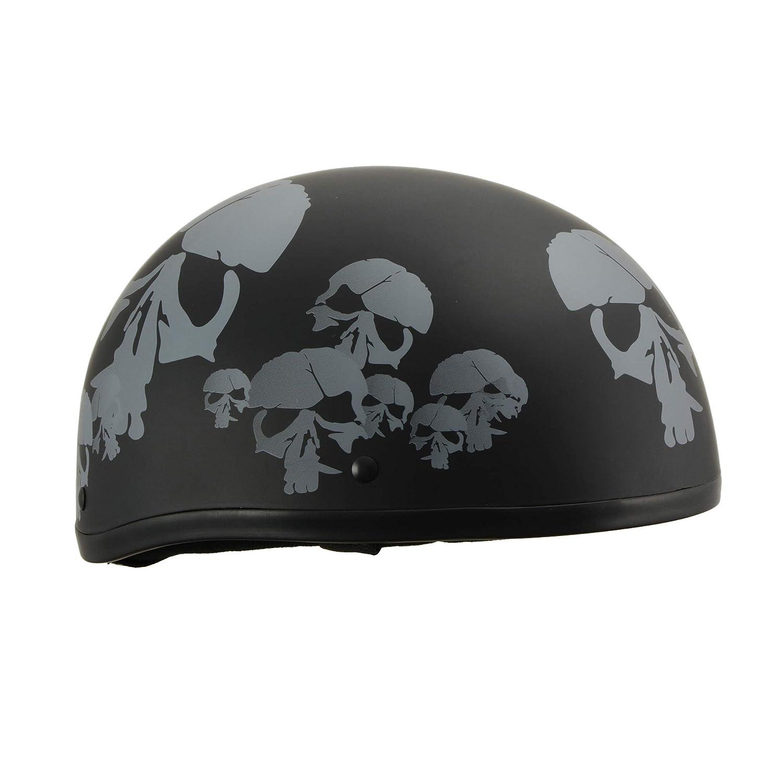 Milwaukee Performance Helmets Mens Size half helmet MAT BLACK, S