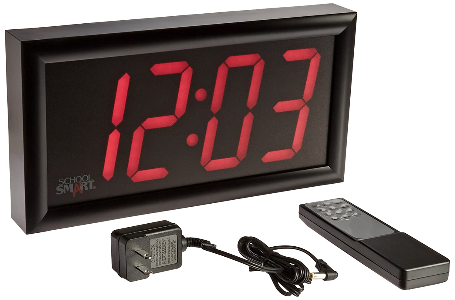Amazon Com School Smart High Visibility Led Clock With Remote Rh 36 Inch Large Wall Clocks