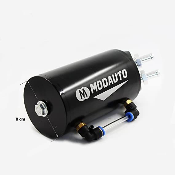 MODAUTO Depósito Aceite de Coche, Decantador de Aceite, Captura de Aceite de Motor, Aluminio Pulido, Redondo, Modelo E080BK, Color Negro: Amazon.es: Coche y ...