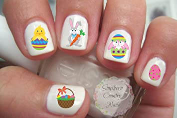 Amazon 50 Easter Nail Art Decals Beauty