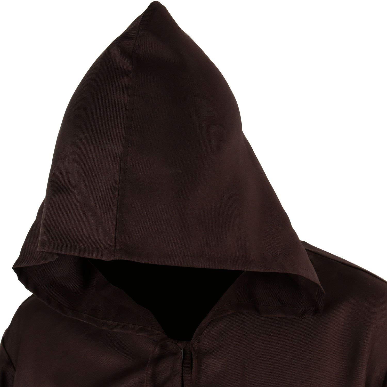 Jila Men /& Kids Tunic Hooded Robe Cloak Knight Gothic Fancy Dress Halloween Masquerade Cosplay Costume Cape