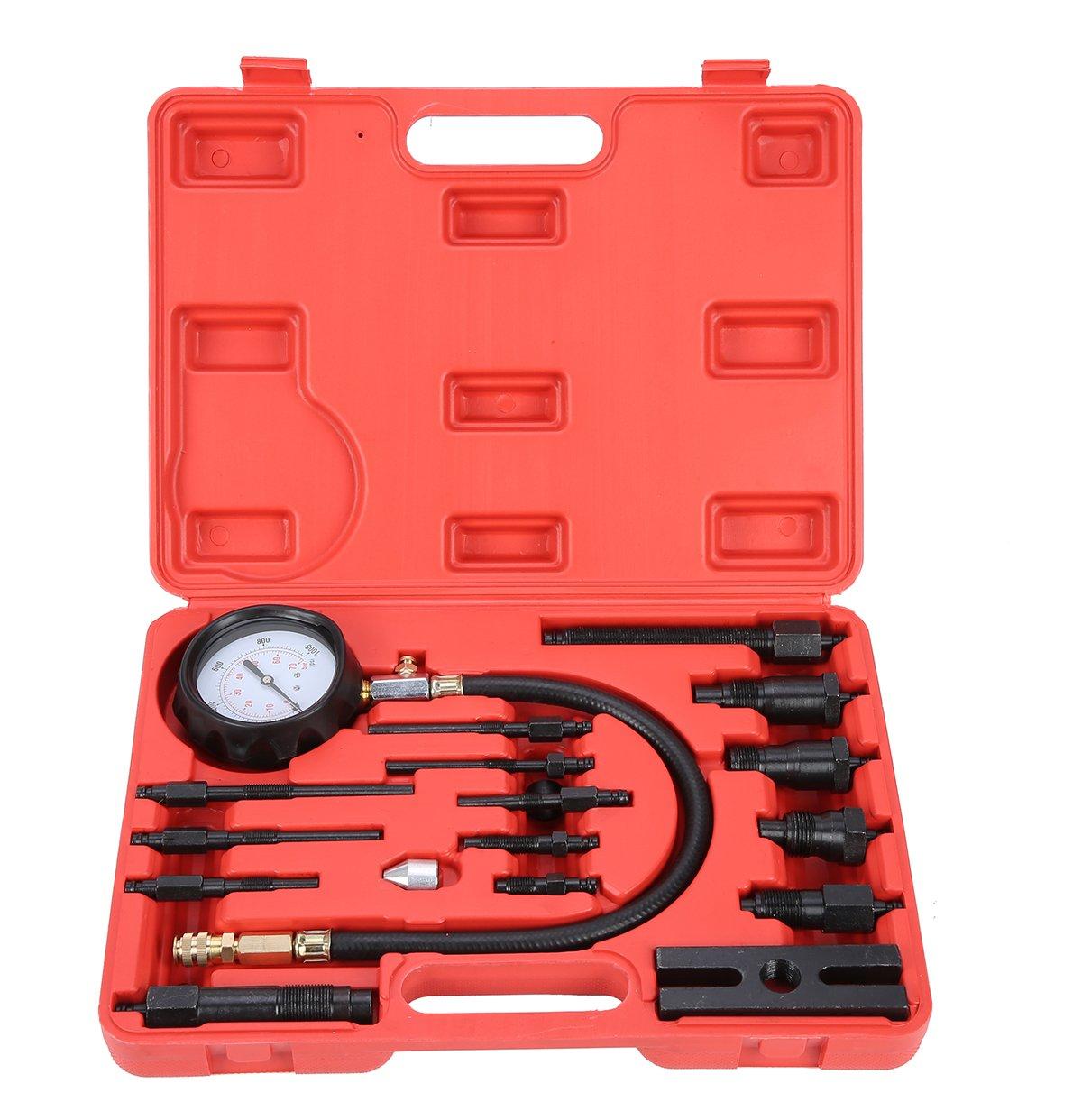 8milelake Diesel Engine Cylinder Compression Diagnostic Test Tool Kit freebirdtrading