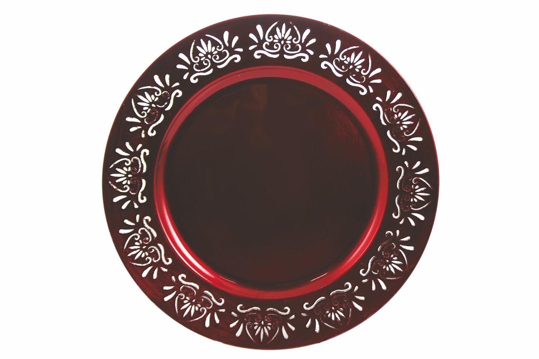 Galileo Casa 2175972 33 x 33 x 2 cm Dessous de Plat en m/élamine Rouge