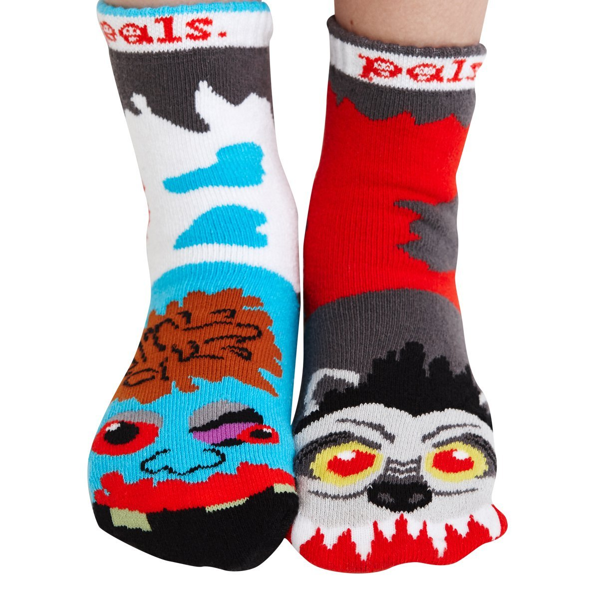 Kids Werewolf & Zombie Socks - Mismatched Unlikely Friends! PS-9