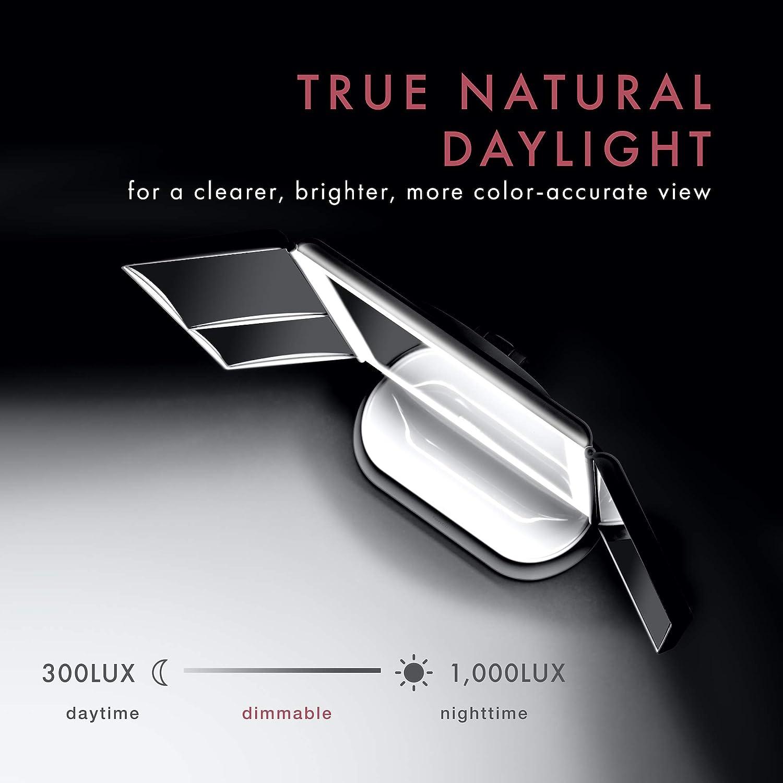 Interruptor de Pantalla t/áctil 32 Tiras de luz LED Superfire Espejo de vanidad con 1x 2X 3X 5X ampliaci/ón SOLVE Espejo de Maquillaje de Gran tama/ño con Luces rotaci/ón 180 y 90