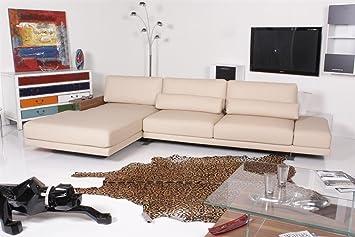 Rolf Benz Sofa Vero 556 Ecksofa Leder Creme Amazonde Küche Haushalt