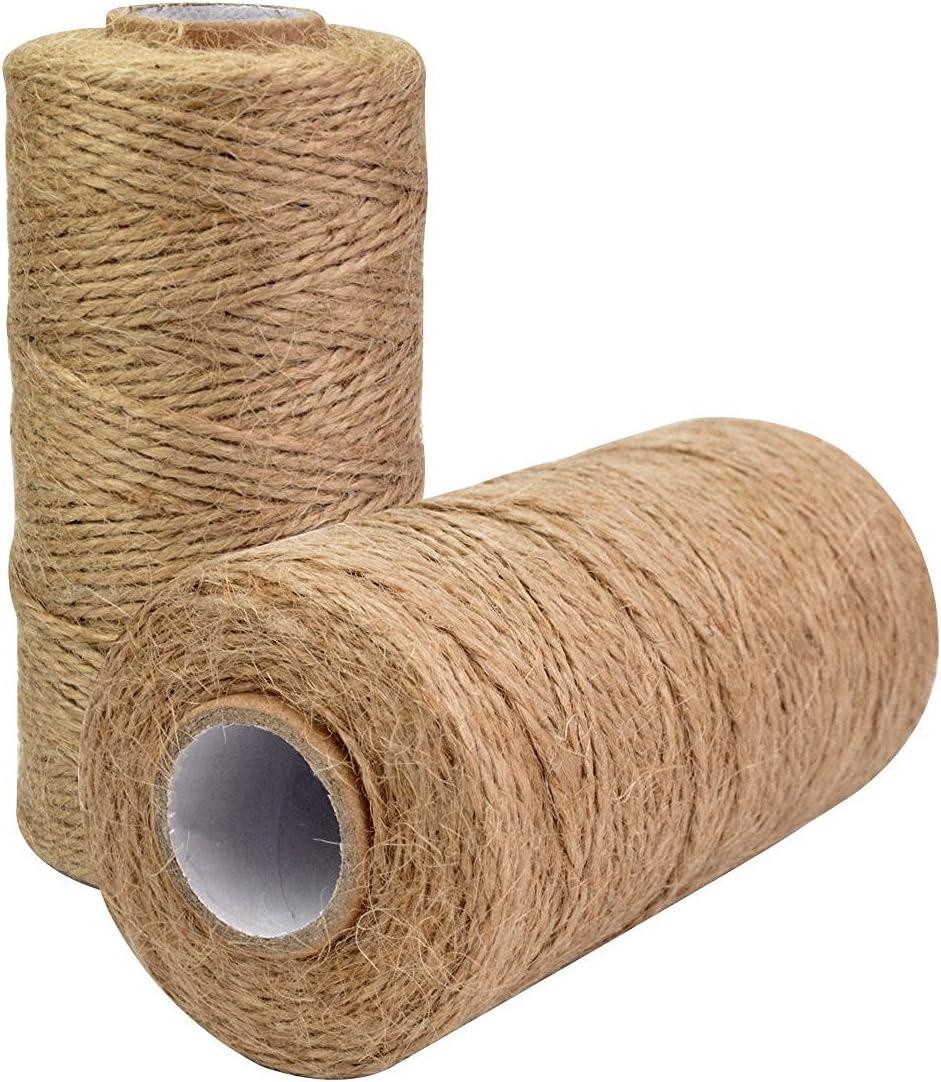 kraftz/®/ /120/m Jute Bindf/äden 2/mm x 3-lagig natur Jute Bindf/äden Arts Crafts Geschenk Verpackung Materialien B/äckergarn langlebigem nat/ürlichen Bindf/äden