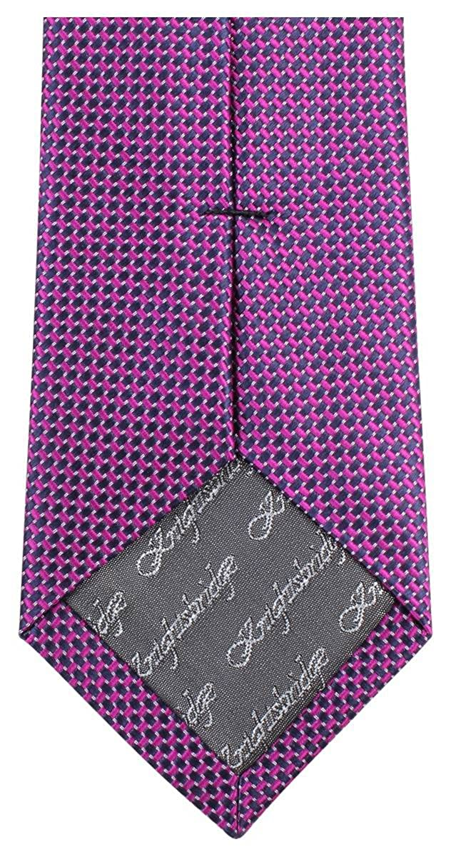Bright Pink//Black Knightsbridge Neckwear Mens Small Pattern Tie