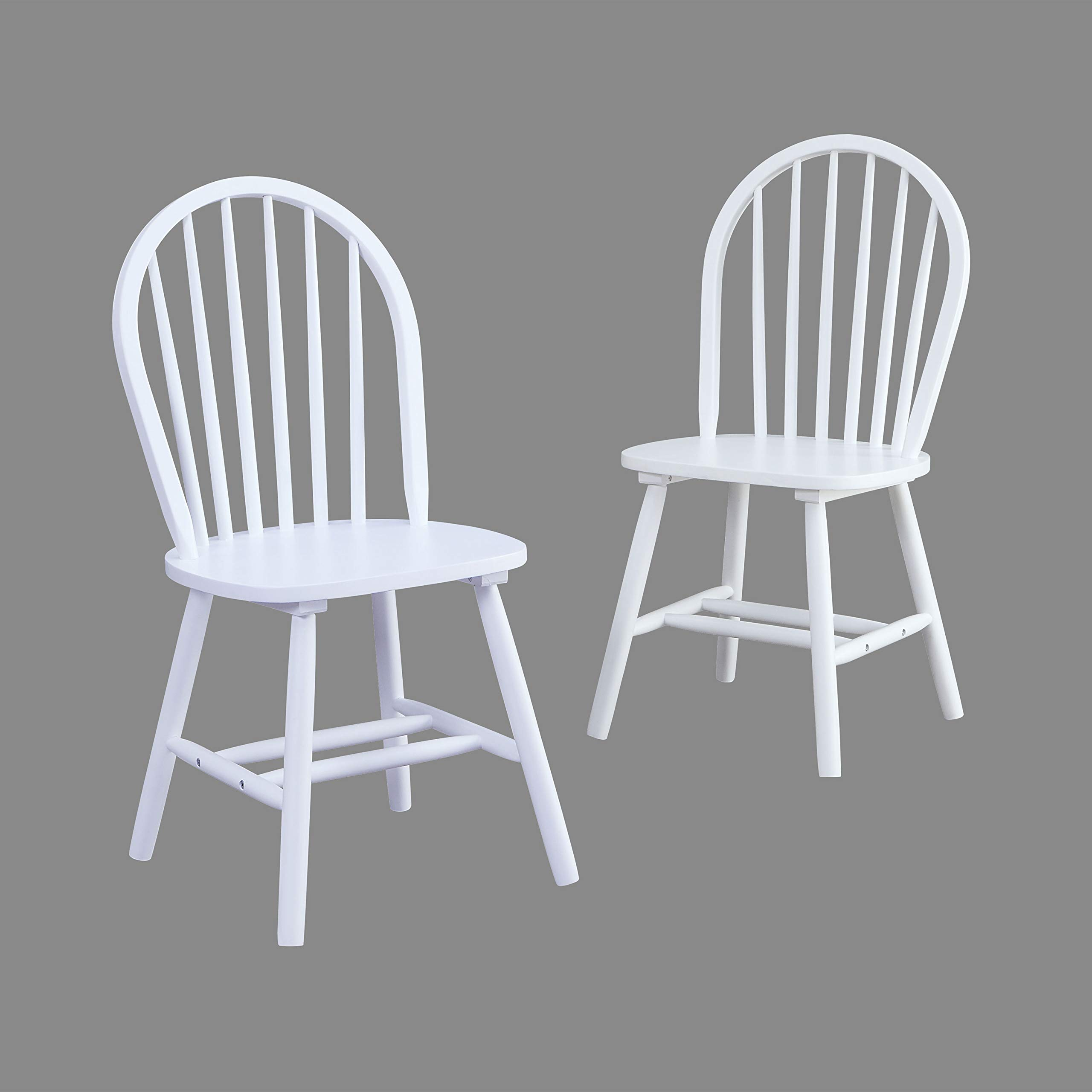 Bhg Autumn Lane Windsor Solid Wood Dining Chairs White