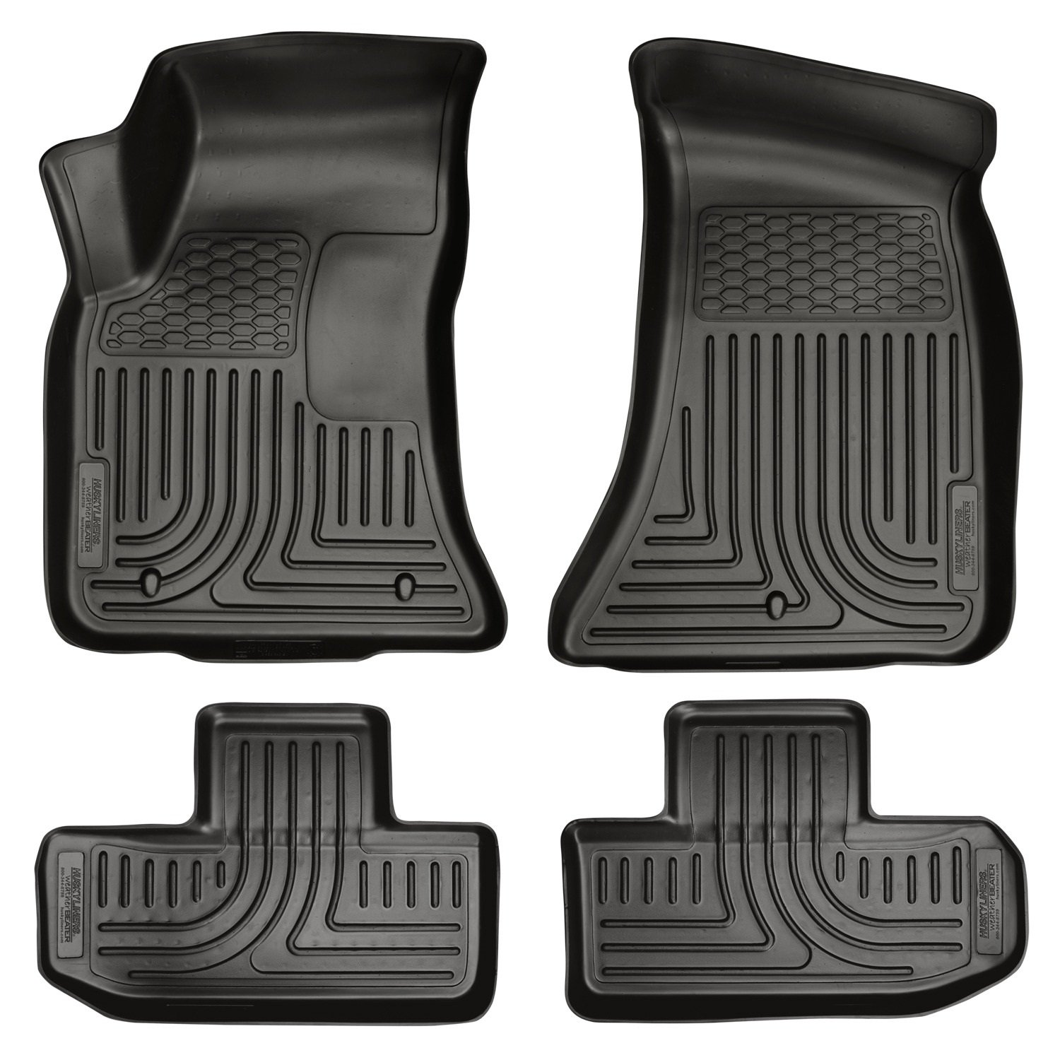 Amazon.com: Husky Liners Front & 2nd Seat Floor Liners Fits 11-15  Challenger: Automotive