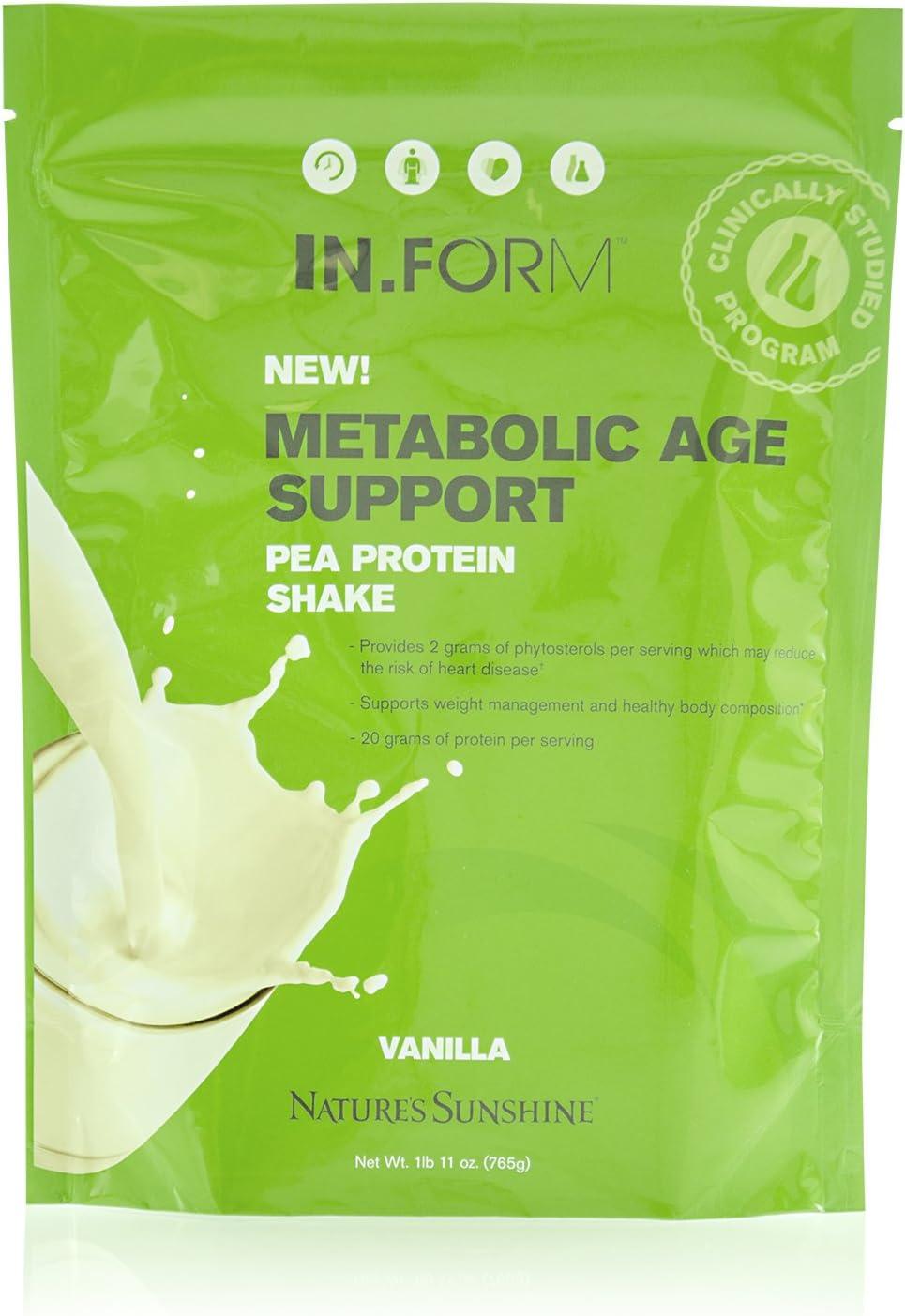 Nature's Sunshine in.Form Pea Protein Shake Vanilla, 756g