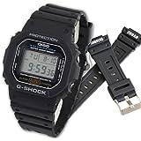 カシオ CASIO G-SHOCK Gショック メンズ 腕時計 DW-5600E-1V バネ棒外し付き オリジナルベルトセット 【並行輸入品】