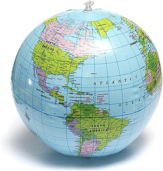 Oficina Globo 25 cm Globo Inflable Mundo Tierra Mapa del Océano ...