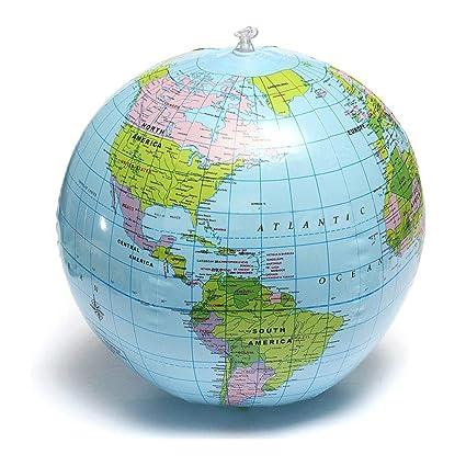 25 cm Globo Inflable Mundo Tierra Mapa del Océano Bola ...
