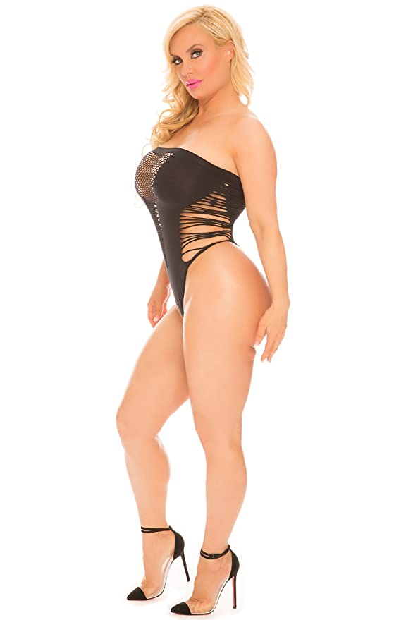437b045a4f6 Cocolicious Women's Sexy Lingerie Meshy Temptation Seamless Bodysuit with  Cutouts