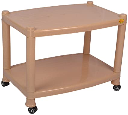 National Rectangular Foldable Plastic Center Coffee Table With Detachable  Wheels