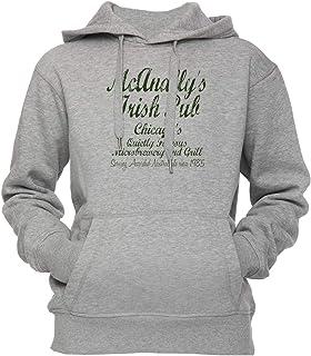 McAnallys Irish Pub Unisex Uomo Donna Felpa con Cappuccio Pullover Grigio Tutti Dimensioni Men's Women's Hoodie Grey all Sizes Erido HP-53637