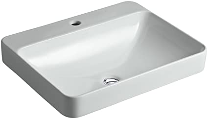 KOHLER K-2660-1-95 Vox Rectangle Vessel Above-Counter Bathroom Sink on undermount counter, vacation counter, modular kitchen counter, sinks that sit on top of counter, kitchen countertops, kitchen sinks 25 wide, up on the kitchen counter, kitchen light counter, kitchen floor counter, kitchen undercounter sinks, kitchen marble counter, kitchen pantry counter, mobile kitchen counter, kitchen stone counter, kitchen burn counter, kitchen bench counter, kitchen chairs counter, house kitchen counter, kitchen area, mini kitchen counter,