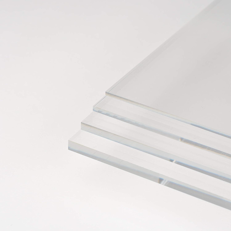 DOLLE Acrylglas XT Kanten unbearbeitet UV-Stabil Zuschnitte |St/ärke 8 mm Glasklare Platte in 1000 x 500 mm PMMA | F/ür Innen und Au/ßen