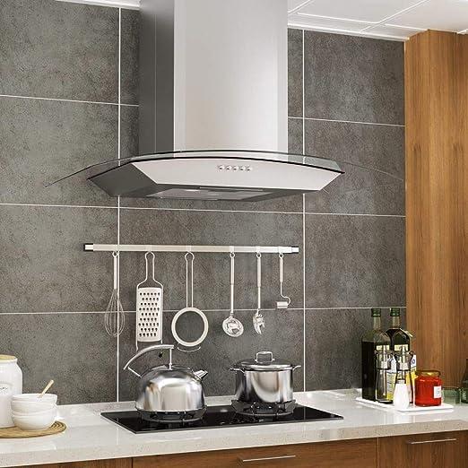 Tidyard Campana extractora de Pared absorción de Aceite Limpieza de cocinas 60 cm Acero Inoxidable 756 m³/h LED: Amazon.es: Hogar