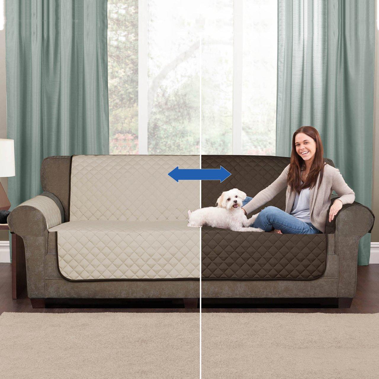 BONPLUS Funda Protectora de sofá - Couch Coat/Reversible en ...