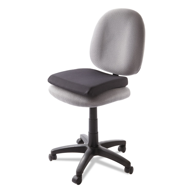 Kensington 82024 Memory Foam Seat Rest, 15 1/2w x 16d x 2h, Black