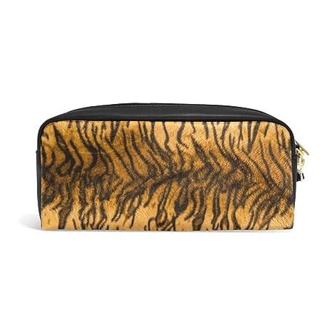 e870122cc0 Zzkko Tiger cerniera matita della penna cancelleria borsa trucco cosmetici  borsa borsetta in pelle stampa