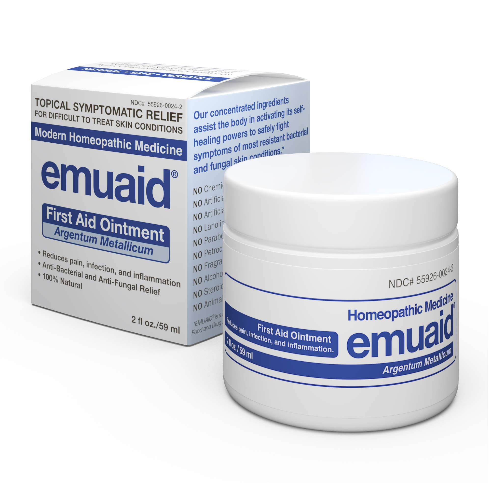 Emuaid® Ointment - Antifungal, Eczema Cream. Regular Strength Treatment. Regular Strength for Athletes Foot, Psoriasis, Jock Itch, Anti Itch, Ringworm, Rash, Shingles and Skin Yeast Infection. by Emuaid