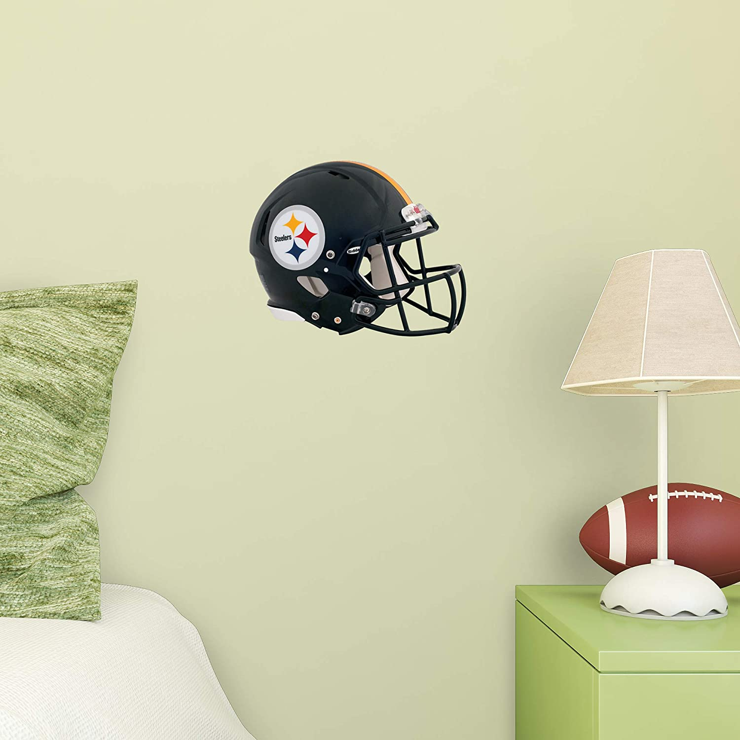 Amazon.com   FATHEAD NFL Pittsburgh Steelers - Helmet Teammate- Officially  Licensed Removable Wall Decal 4b097961b4b