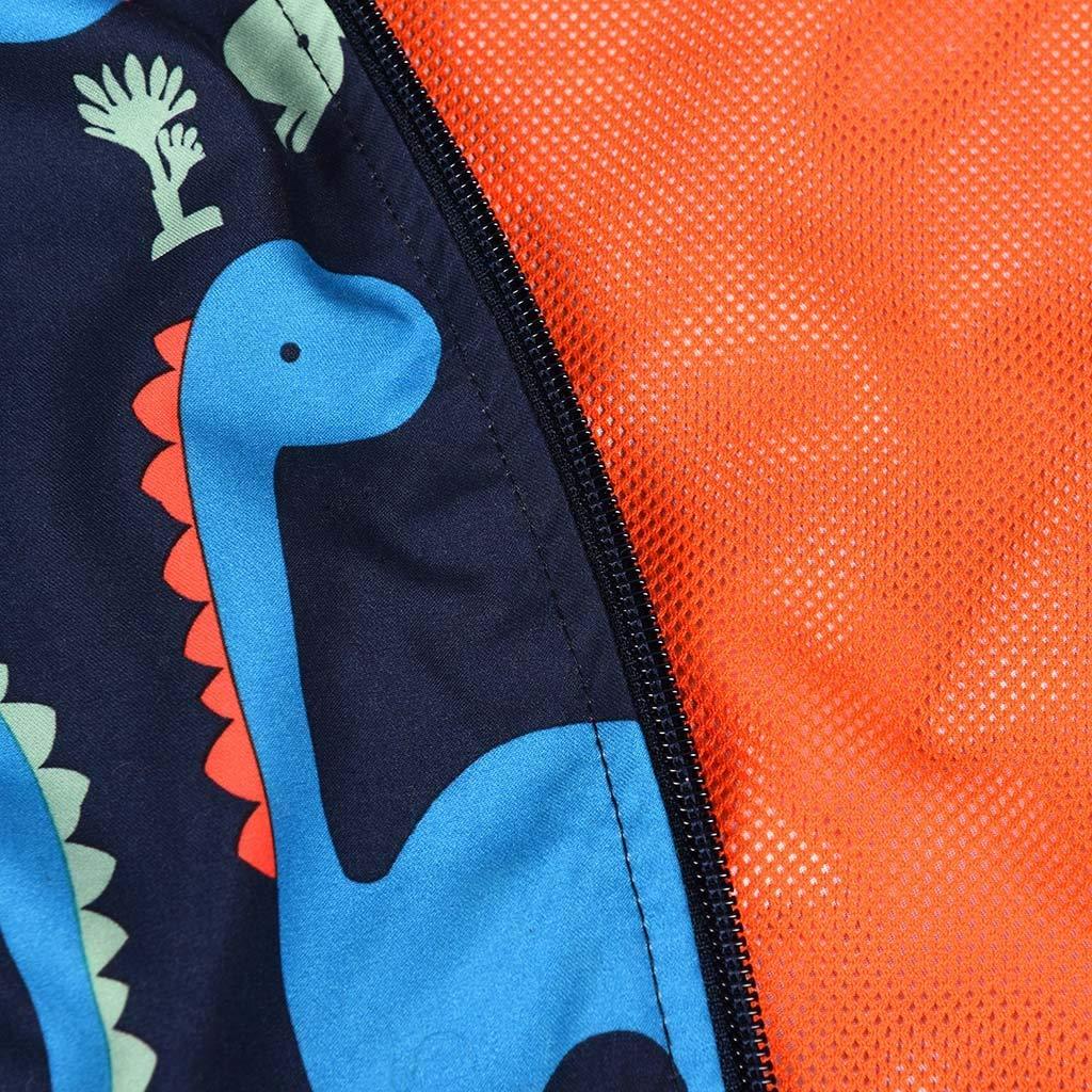 Baby Boys Cute Coat,Children Boys Long Sleeves Cartoon Dinosaur Printed Zipper Coat Clothes
