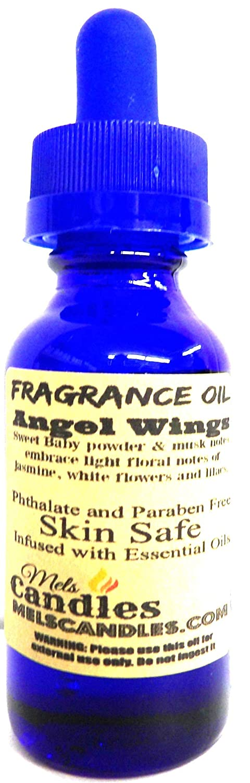 Angel Wings, 1oz/ 29.5ml Blue Glass Bottle Skin Safe Oil, Soap Making Oil, Candle Oil, Perfume Oil