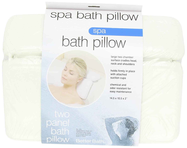 Luxury Comfort LARGE white vinyl & FOAM relaxing NECK spa BATH Pillow hot TUB New Better Bath