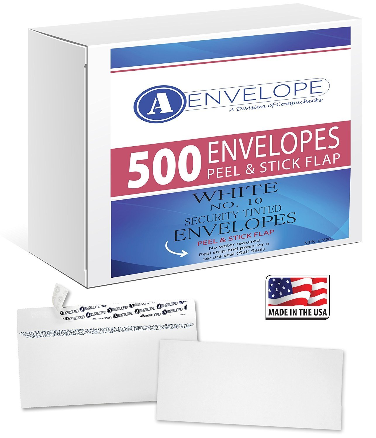"#10 Security Envelopes - SELF SEAL - Windowless, (500 Count) 4""1/8 X 9""1/2 A-Envelope Business & Personal Envelopes - Security Tint - Great for: Letters, Tax Forms, Statements & Checks"