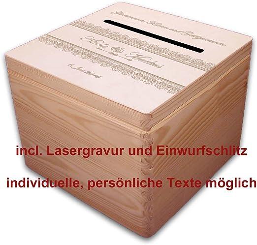Madera-Box buzon de correo & en caja de regalo (2) dinero grabado con regalos: Amazon.es: Juguetes y juegos