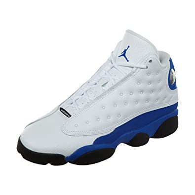 the best attitude 3b817 7a29e Jordan Kid s Air 13 Retro BG, White Hyper Royal-Black, Youth Size