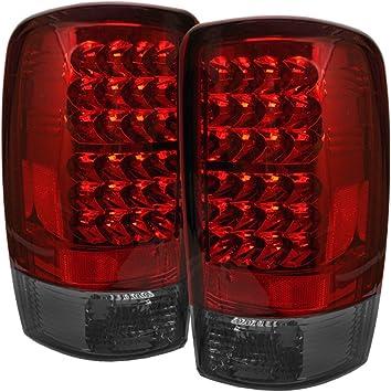 Spyder 5001559 Chevy Suburban//Tahoe 1500//2500 00-06 // GMC Yukon//Yukon XL 00-06 // GMC Yukon Denali//Denali XL 01-06 Red Smoke Lift Gate Style Only LED Tail Lights